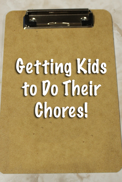 Getting Kids to Do Their Chores