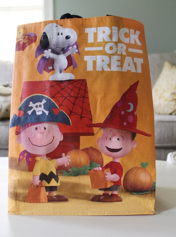 Peanuts Trick or Treat Bag Close up