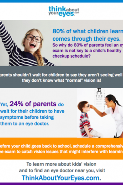 Think About Your Eyes Back to School