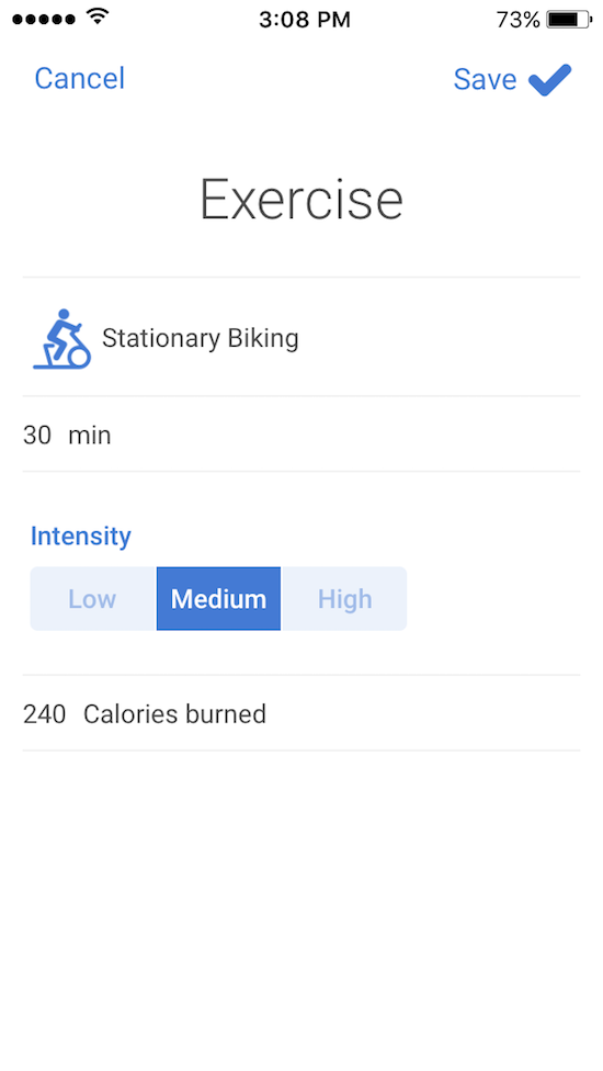 Exercise Logging Noom