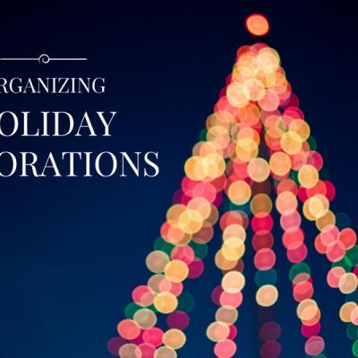 Organizing Holiday Supplies