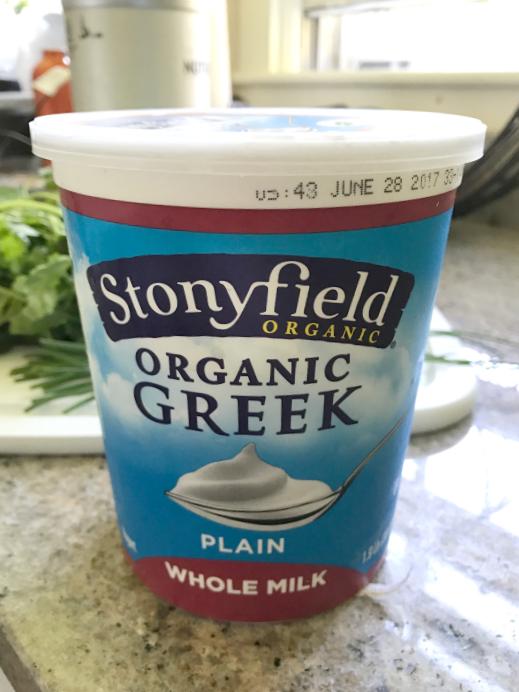 Stonyfield Organic Whole Milk Greek