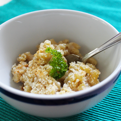 A Lightened Up Version of Macaroni and Cheese for Back to School Nights!