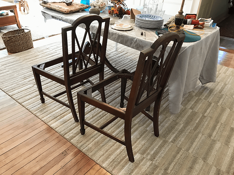 Dining Room Chairs Before Chalk Paint
