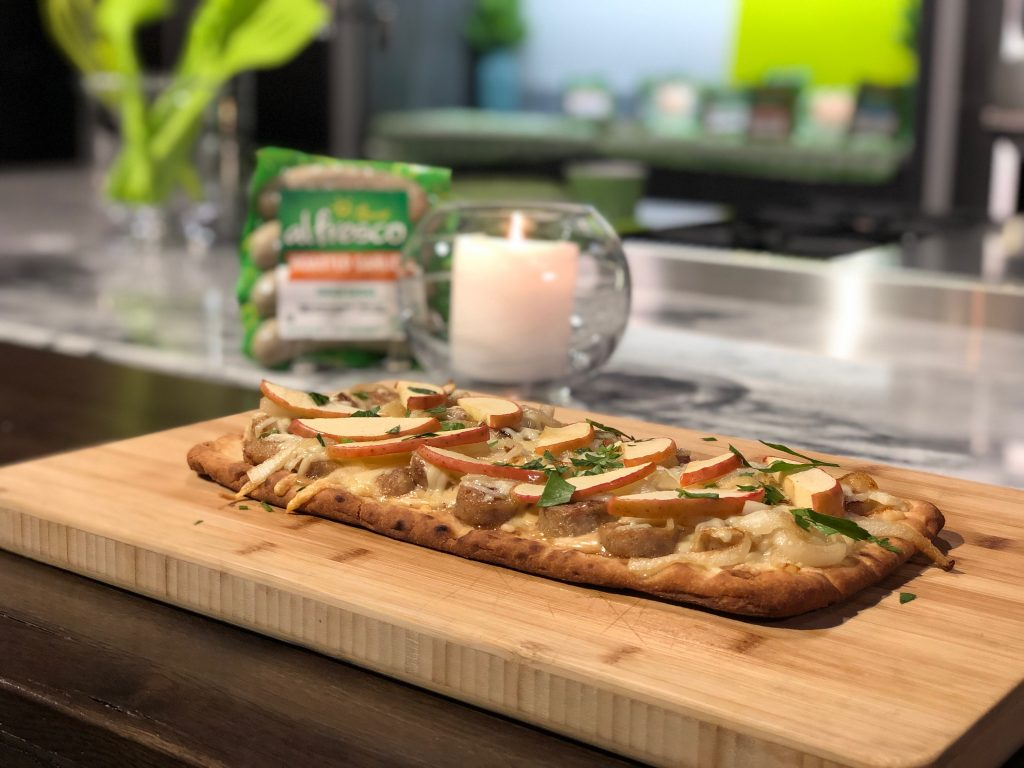 Chicken Apple Sausage Flatbread